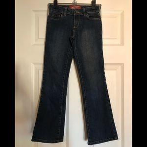 Girls dark denim jeans